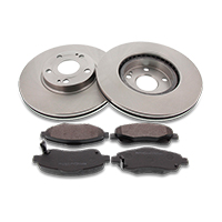 Brake discs and pads set for AUDI