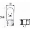 Крушка с нагреваема жичка, светлини за парк / позициониране