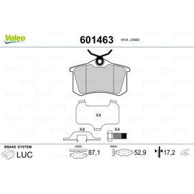 Bremsbelagsatz, Scheibenbremse Breite: 87,1mm, Höhe: 52,9mm, Dicke/Stärke: 17,2mm mit OEM-Nummer 42.5467