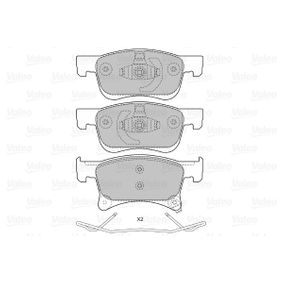 Bremsbelagsatz, Scheibenbremse Breite 2: 155,15mm, Höhe 1: 61,9mm, Höhe 2: 68,1mm, Dicke/Stärke 2: 18mm mit OEM-Nummer 1 605 281