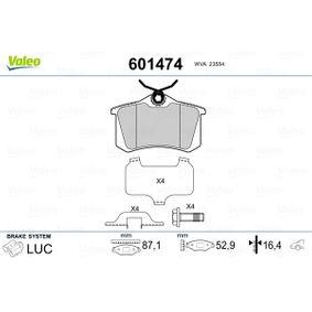 Bremsbelagsatz, Scheibenbremse Breite 1: 87,1mm, Höhe 1: 52,9mm, Dicke/Stärke 1: 16,4mm mit OEM-Nummer 440600819R