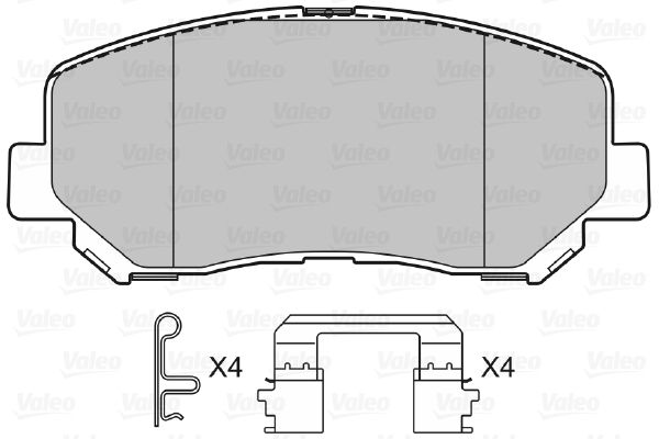 Bremsbeläge 601487 VALEO 601487 in Original Qualität