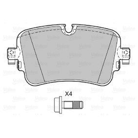 Brake Pad Set, disc brake Width: 129mm, Height: 64,6mm, Thickness: 17mm with OEM Number 4M0698451P