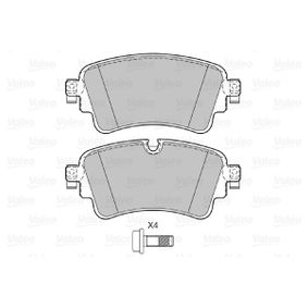Brake Pad Set, disc brake Width: 129mm, Height: 58,6mm, Thickness: 17,3mm with OEM Number 8W0698451 S