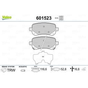 Bremsbelagsatz, Scheibenbremse Breite: 116,6mm, Höhe: 52,8mm, Dicke/Stärke: 16,8mm mit OEM-Nummer K6802-9887-AA