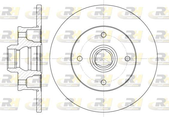 ROADHOUSE  6024.00 Bremsscheibe Bremsscheibendicke: 10mm, Lochanzahl: 4, Ø: 226mm, Ø: 226mm