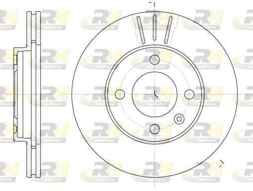 ROADHOUSE  6084.10 Bremsscheibe Bremsscheibendicke: 20mm, Lochanzahl: 4, Ø: 239mm