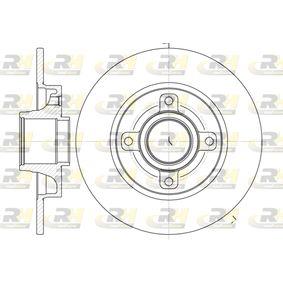 Disco de travão Espessura do disco de travão: 9mm, N.º de furos: 4, Ø: 249mm, Ø: 249mm com códigos OEM 42 49 34