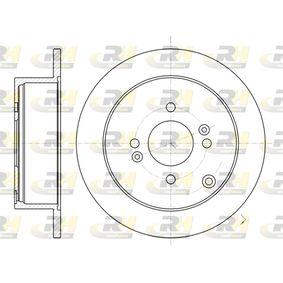 Brake Disc 61024.00 RIO 2 (JB) 1.5 CRDi MY 2009