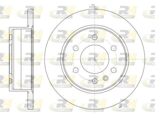 ROADHOUSE  61035.00 Bremsscheibe Bremsscheibendicke: 16mm, Lochanzahl: 6, Ø: 298mm, Ø: 298mm
