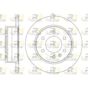 Bremsscheibe Bremsscheibendicke: 16mm, Lochanzahl: 6, Ø: 298mm, Ø: 298mm mit OEM-Nummer 2E0 615 601 A