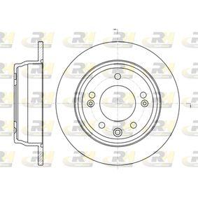 Brake Disc Brake Disc Thickness: 10mm, Num. of holes: 5, Ø: 262mm, Ø: 262mm with OEM Number 58411-1H300