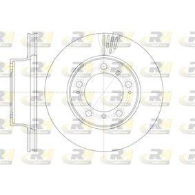 Bremsscheibe Bremsscheibendicke: 24mm, Lochanzahl: 5, Ø: 297,8mm mit OEM-Nummer 986.351.401.05