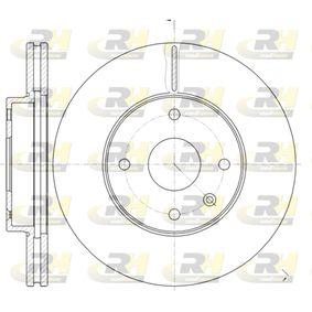 Bremsscheibe Bremsscheibendicke: 24mm, Lochanzahl: 4, Ø: 277,8mm mit OEM-Nummer 96329364