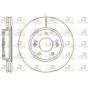 Brake Disc Brake Disc Thickness: 26mm, Num. of holes: 5, Ø: 280mm, Ø: 280mm with OEM Number 51712-1F300