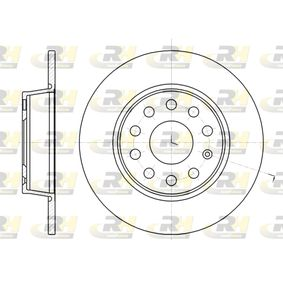Bremsscheibe Bremsscheibendicke: 10mm, Lochanzahl: 9, Ø: 271,8mm mit OEM-Nummer 1K0615601AA