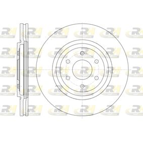 Bremsscheibe Bremsscheibendicke: 28mm, Lochanzahl: 6, Ø: 319,5mm, Ø: 319,5mm mit OEM-Nummer 40206 EB320