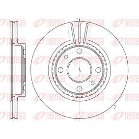 Bremsscheibe Bremsscheibendicke: 20,6mm, Lochanzahl: 4, Ø: 259mm, Ø: 259mm mit OEM-Nummer 77 01 205 653