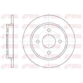Brake Disc Brake Disc Thickness: 10mm, Num. of holes: 4, Ø: 252,5mm, Ø: 252,5mm with OEM Number 1373781
