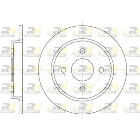 Brake Disc Brake Disc Thickness: 10mm, Num. of holes: 4, Ø: 252,5mm, Ø: 252,5mm with OEM Number 95GB-2A315-B1C