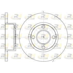 Bremsscheibe Bremsscheibendicke: 13mm, Lochanzahl: 4, Ø: 256mm, Ø: 256mm mit OEM-Nummer 895615301