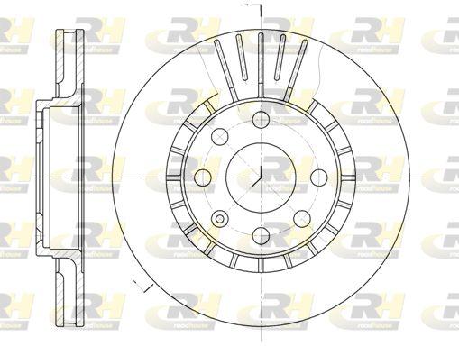 ROADHOUSE  6178.10 Bremsscheibe Bremsscheibendicke: 24mm, Lochanzahl: 6, Ø: 256mm, Ø: 256mm