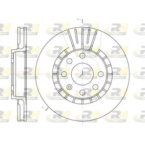Bremsscheibe Bremsscheibendicke: 24mm, Lochanzahl: 6, Ø: 256mm, Ø: 256mm mit OEM-Nummer 90250546