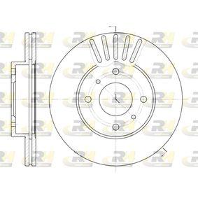 Bremsscheibe Bremsscheibendicke: 22mm, Lochanzahl: 4, Ø: 257mm mit OEM-Nummer 230249