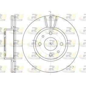 ROADHOUSE  6183.10 Bremsscheibe Bremsscheibendicke: 20mm, Lochanzahl: 4, Ø: 257mm