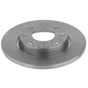 SWAG Brake disc kit Front Axle, Solid, Coated