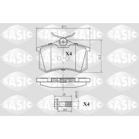 Bremsbelagsatz, Scheibenbremse Dicke/Stärke: 17,4mm mit OEM-Nummer 1029782