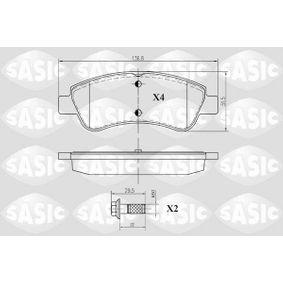 Brake Pad Set, disc brake Thickness: 18,7mm with OEM Number 16 370 145 80