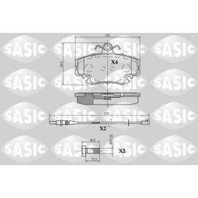 Bremsbelagsatz, Scheibenbremse Dicke/Stärke: 18mm mit OEM-Nummer 7701205 411