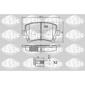 Bremsbelagsatz, Scheibenbremse Dicke/Stärke: 16,6mm mit OEM-Nummer 1K0.698.451H