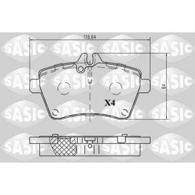 Bremsbelagsatz, Scheibenbremse Dicke/Stärke: 18,6mm mit OEM-Nummer 1694202120