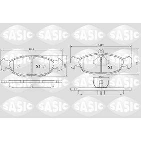 Комплект спирачно феродо, дискови спирачки 6216029 Corsa B Хечбек (S93) 1.4i 16V (F08, F68, M68) Г.П. 1998