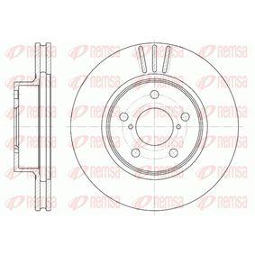 Bremsscheibe Bremsscheibendicke: 24mm, Lochanzahl: 5, Ø: 260mm, Ø: 260mm mit OEM-Nummer 26300 AE040
