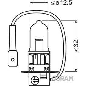 Glühlampe, Fernscheinwerfer H3, 55W, 12V 64151NBU-HCB