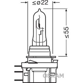 Крушка с нагреваема жичка, фар за дълги светлини Н15, 55/15ват, 12волт 64176CBI