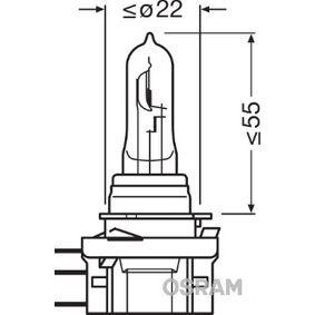 Крушка с нагреваема жичка, фар за дълги светлини Н15, 55/15ват, 12волт 64176CBI-HCB