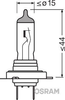 Glödlampa, fjärrstrålkastare 64210XR-01B OSRAM H7 original kvalite