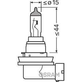 Крушка с нагреваема жичка, фар за дълги светлини H8, 35ват, 12волт, ORIGINAL 64212-01B