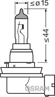 Glühlampe, Fernscheinwerfer 64212NBU-HCB OSRAM H8 in Original Qualität