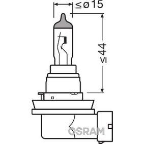 Крушка с нагреваема жичка, фар за мъгла H16, PGJ19, 19ват, 12волт 64219CBI