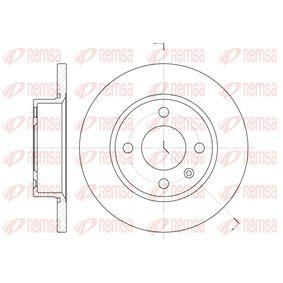 Bremsscheibe Bremsscheibendicke: 12,7mm, Lochanzahl: 4, Ø: 236mm, Ø: 236mm mit OEM-Nummer 6U0 501 615 B
