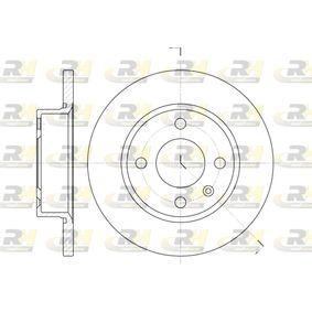 Bremsscheibe Bremsscheibendicke: 12,7mm, Lochanzahl: 4, Ø: 236mm, Ø: 236mm mit OEM-Nummer 6U0.501.615B