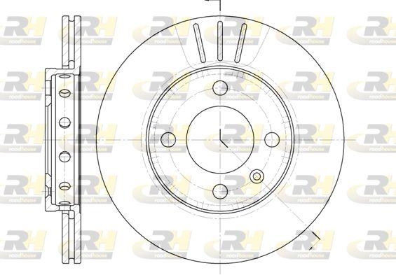 ROADHOUSE  6426.10 Bremsscheibe Bremsscheibendicke: 18mm, Lochanzahl: 4, Ø: 239mm