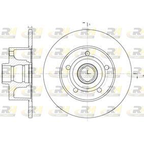 Bremsscheibe Bremsscheibendicke: 10mm, Lochanzahl: 5, Ø: 245mm, Ø: 245mm mit OEM-Nummer 8D0 615 301B