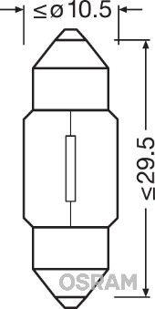 Bulb, interior light 6438-02B OSRAM 6438-02B original quality