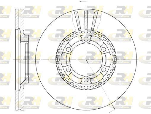 ROADHOUSE  6446.10 Bremsscheibe Bremsscheibendicke: 22mm, Lochanzahl: 6, Ø: 258,5mm